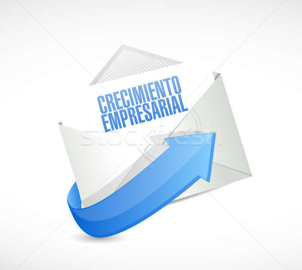 Business Growth mail sign in Spanish. Stock photo © alexmillos