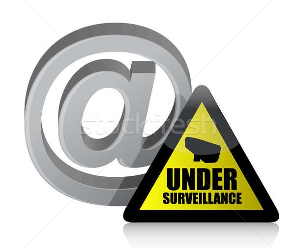 internet surveillance illustration design Stock photo © alexmillos