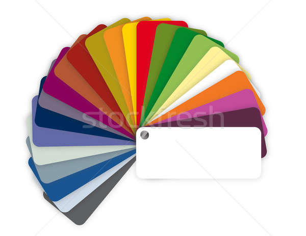 Illustration of a color guide with shades over white Stock photo © alexmillos