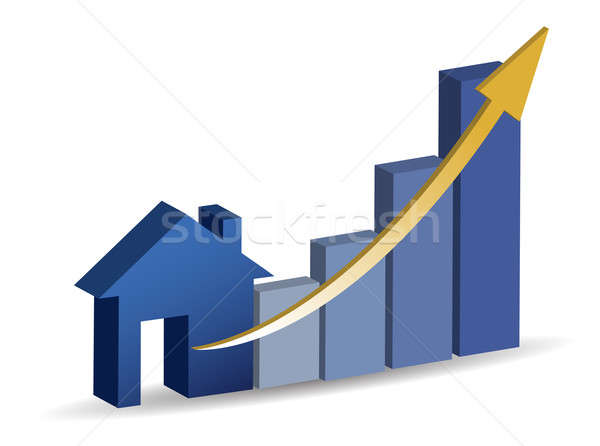 Growing home sales illustration design Stock photo © alexmillos