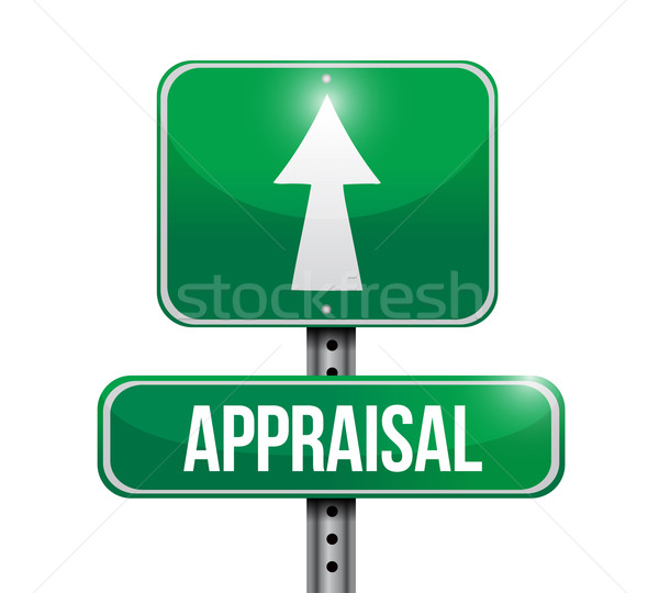 Değerlendirme yol işareti örnek dizayn iş imzalamak Stok fotoğraf © alexmillos