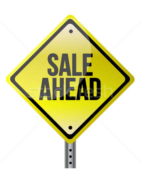 продажи впереди знак бизнеса белый Сток-фото © alexmillos