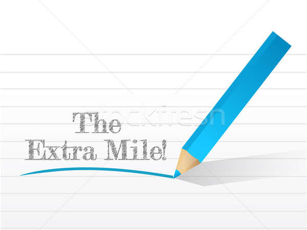 the extra mile sign written on a notepad illustration Stock photo © alexmillos