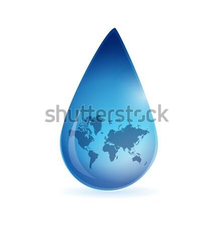 円 水滴 ビジネス 水 抽象的な 自然 ストックフォト © alexmillos