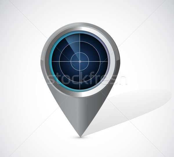 radar locator illustration design over a white background Stock photo © alexmillos