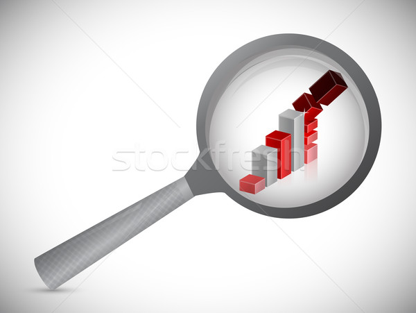 Aşağı grafik soruşturma örnek dizayn beyaz Stok fotoğraf © alexmillos