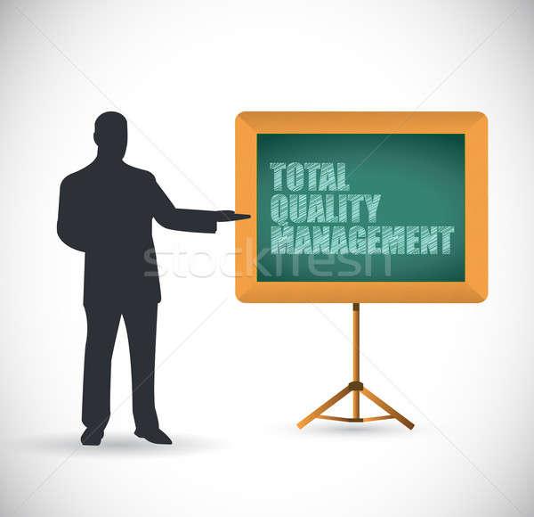 Presentation total quality management Stock photo © alexmillos
