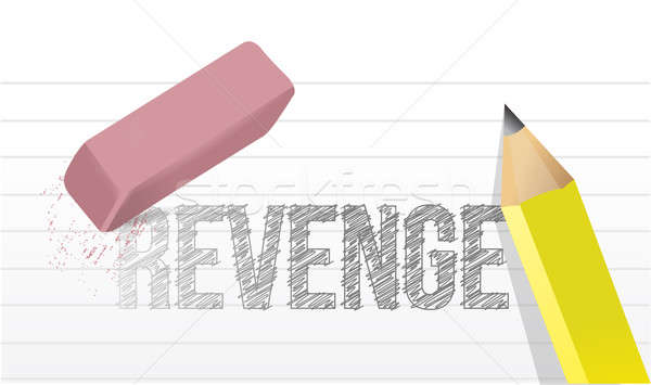 erasing revenge concept illustration design over a white backgro Stock photo © alexmillos