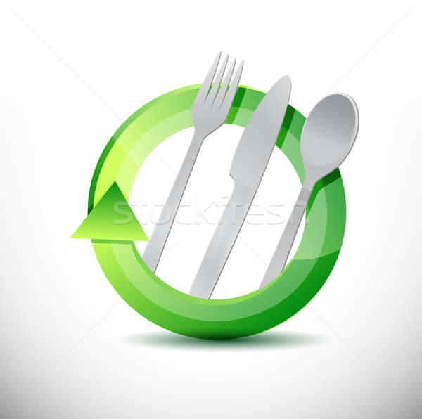 restaurant 360 design concept illustration design over white Stock photo © alexmillos