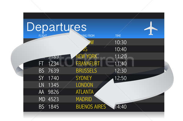 Airport departures Board with arrows Stock photo © alexmillos