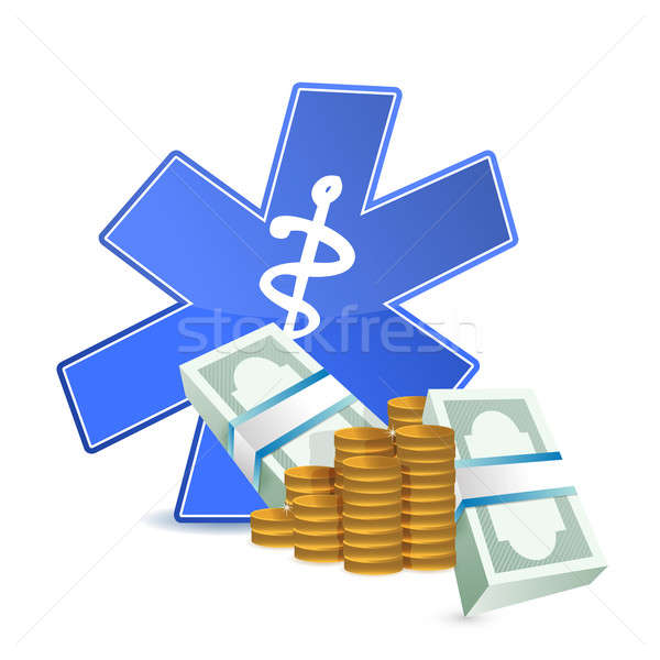 medical expenses illustration design over a white background Stock photo © alexmillos