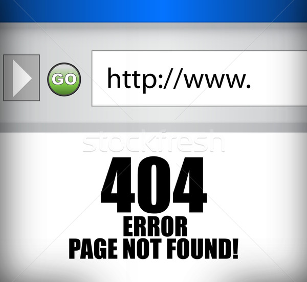 404 error page not found browser illustration  Stock photo © alexmillos