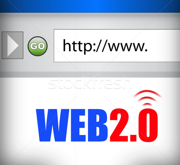 Internet web 20 navigateur résumé monde Photo stock © alexmillos