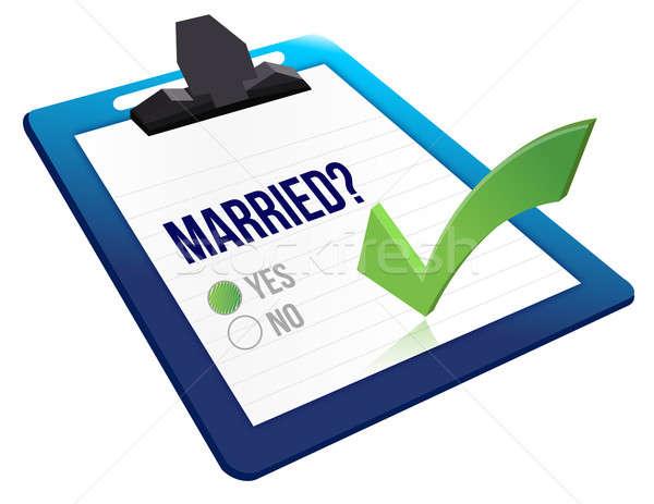 Casado estado pergunta sim não caneta Foto stock © alexmillos