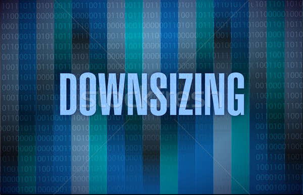 Downsizing text on a binary background Stock photo © alexmillos