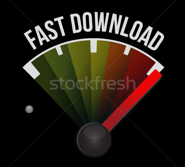Fast download speedometer Stock photo © alexmillos