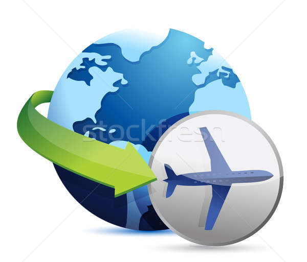 Companhia aérea ilustração projeto branco arte assinar Foto stock © alexmillos