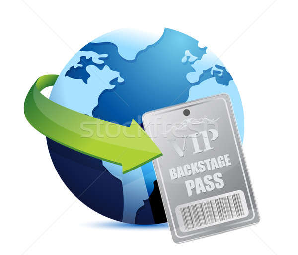 Stock photo: International global Backstage pass vip