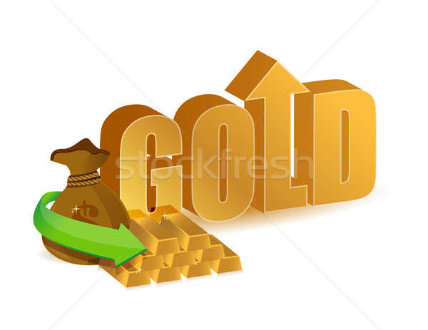 Gold prices increasing Stock photo © alexmillos