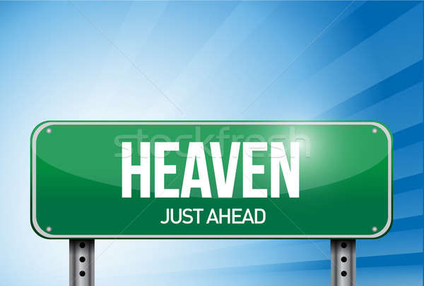 Heaven road sign illustration design  Stock photo © alexmillos