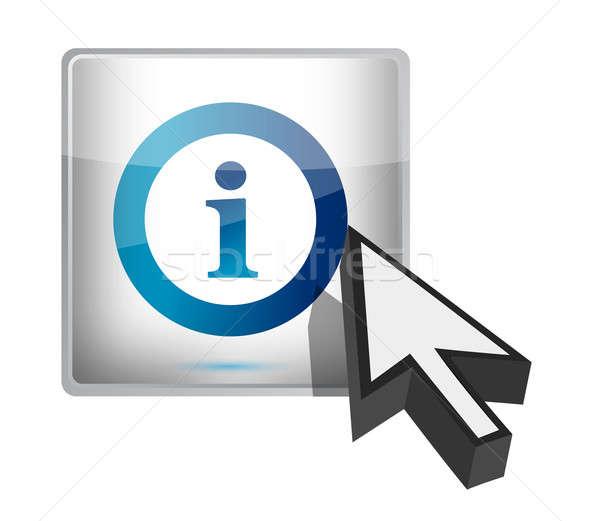 Info button with a cursor illustration design Stock photo © alexmillos