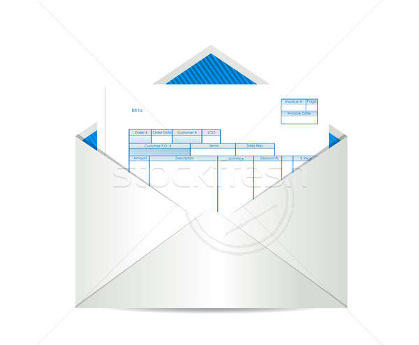 Stock photo: Invoice receipt inside mailing envelope