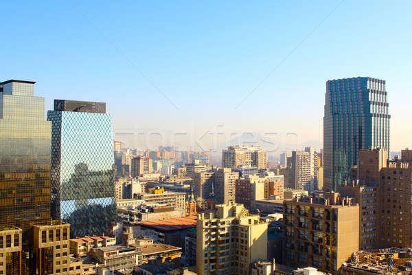 Foto d'archivio: Città · montagna · Chile · Santiago · ufficio