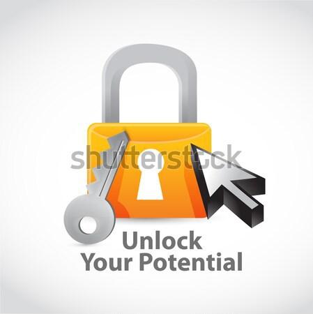health lock security concept. illustration design Stock photo © alexmillos