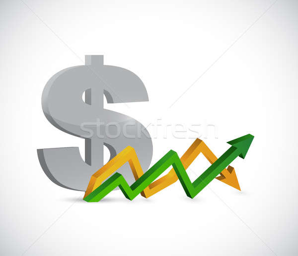 dollar profits. up and down arrow graph isolated Stock photo © alexmillos