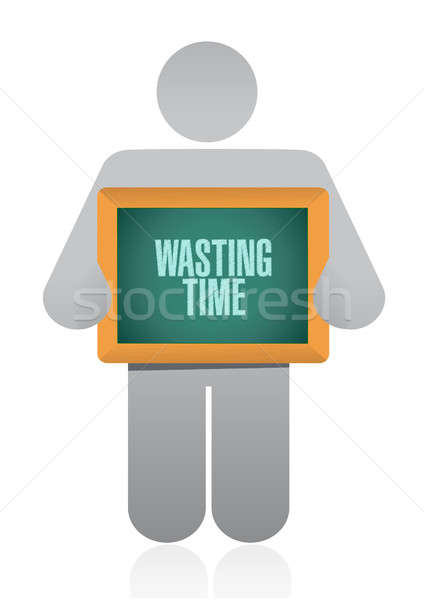 Wasting time avatar sign concept Stock photo © alexmillos