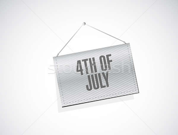 4th of July hanging banner sign concept Stock photo © alexmillos