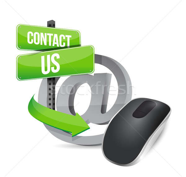 contact us. Wireless computer mouse Stock photo © alexmillos