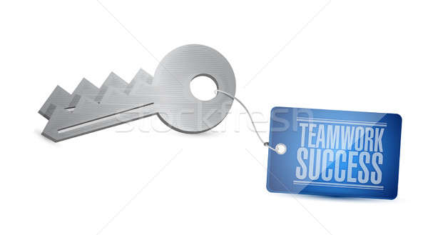 keys to teamwork success concept Stock photo © alexmillos