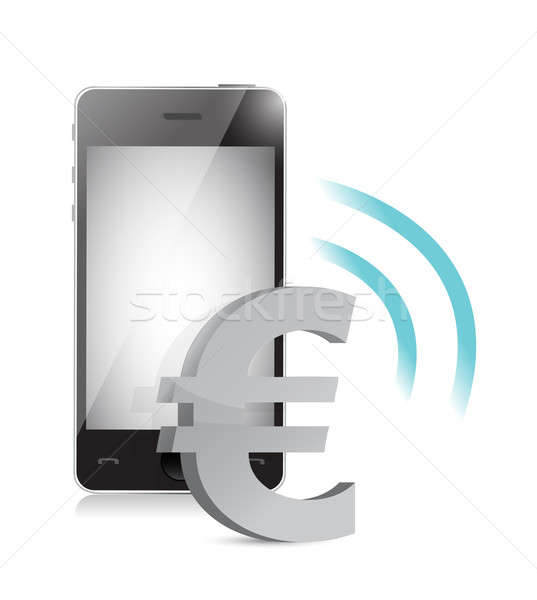 euro currency management on a mobile phone Stock photo © alexmillos