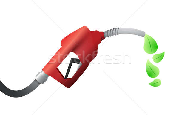 fuel pump. eco fuel illustration design Stock photo © alexmillos