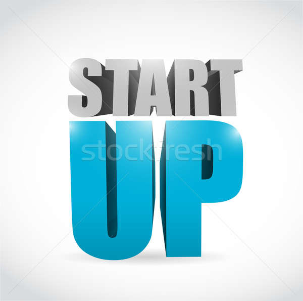 start up text illustration design Stock photo © alexmillos