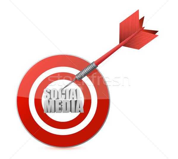 social media target illustration design Stock photo © alexmillos