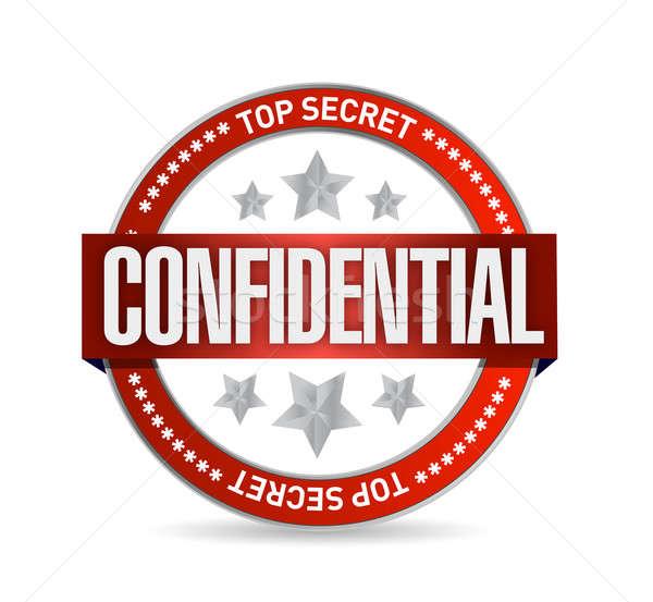 Confidencial sello ilustración diseno blanco fondo Foto stock © alexmillos