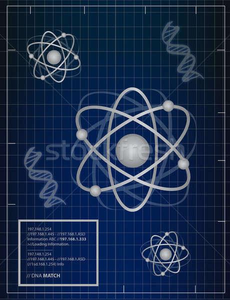 DNS összeillő illusztráció terv orvosi háttér Stock fotó © alexmillos