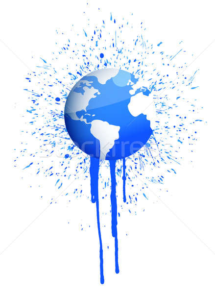 Dünya mürekkep sıçramak örnek dizayn boya Stok fotoğraf © alexmillos