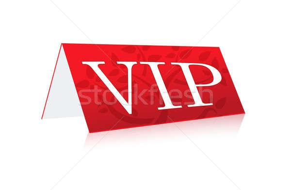 таблице иллюстрация vip знак изолированный белый Сток-фото © alexmillos