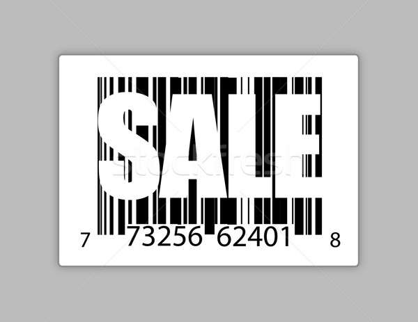 Barcode with the word sale illustration design Stock photo © alexmillos