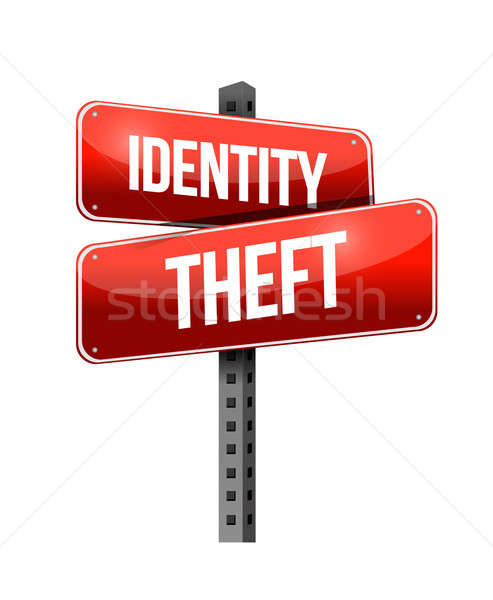 identity theft illustration design over a white background Stock photo © alexmillos
