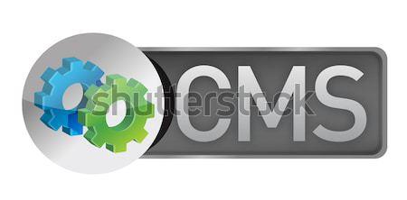 teamwork concept banner illustration design over a white backgro Stock photo © alexmillos