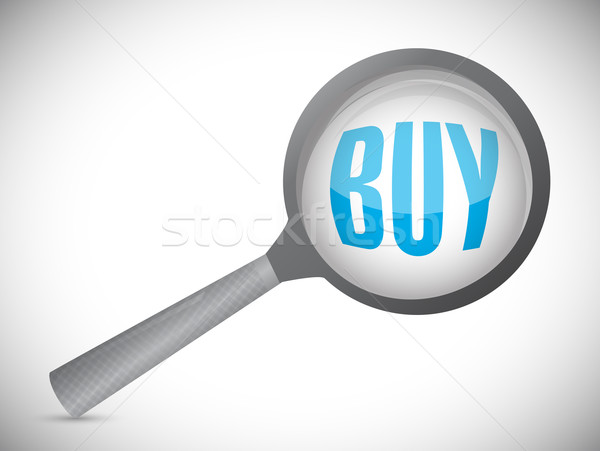 buyer review concept illustration design over a white background Stock photo © alexmillos