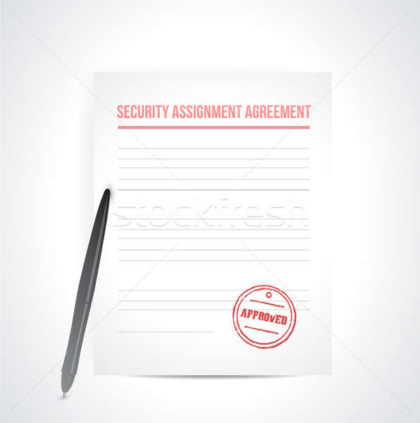 security assignment agreement illustration design over white Stock photo © alexmillos