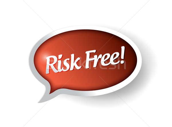 risk free bubble message communication. illustration design over Stock photo © alexmillos