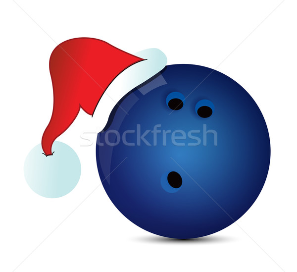 Bowling Santa Cap  Stock photo © alexmillos