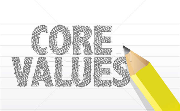 Writing Core Values. illustration Stock photo © alexmillos