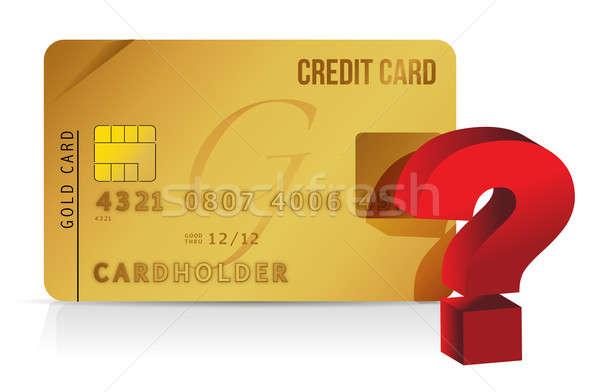 Carte de crédit interrogation carte Shopping question informations Photo stock © alexmillos